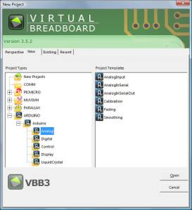virtualbreadboard menu